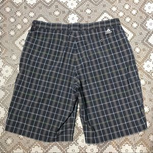 Adidas plaid checkered golf shorts blue green 36